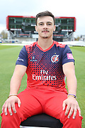 Lancashires Rob Jones during the Lancashire County Cricket Club at the Emirates, Old Trafford, Manchester, United Kingdom on 3 April 2019.