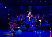 Strictly Ballroom <br /> By Baz Luhrmann <br /> At The Piccadilly Theatre, London, Great Britain <br /> Press photocall <br /> 17th April 2018 <br /> <br /> Anna Francolini as Shirley Hastings <br /> <br /> And company