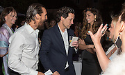 Matthew McConaughey, Sean Cummings, and Camila Alves at the New Orleans Film Society Gala at the home of Paul and Sara Costello on March 28, 2015; Photo: GeorgeLong.com