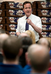 Leader of the Conservative Party David Cameron during a Q&A with employees at Warburtons Bakery in Bolton on day two of the general election campaign, Wednesday April 7, 2010. Photo By Andrew Parsons / i-Images.