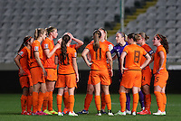 Fifa Womans World Cup Canada 2015 - Preview //<br /> Cyprus Cup 2015 Tournament ( Gsp Stadium Nicosia - Cyprus ) - <br /> Netherlands vs England 1-1   //  Team Group of Netherlands , players talk prior the match