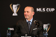 ATLANTA, GA - DECEMBER 07: MLS Commissioner Don Garber. The MLS State of the League Address and Press Conference was held on December 7, 2018 at the Westin Peachtree Plaza, Atlanta Peachtree Ballroom in Atlanta, GA.