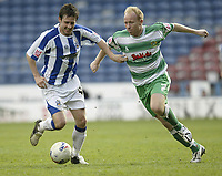 Photo: Aidan Ellis.<br /> Huddersfield Town v Yeovil Town. Coca Cola League 1. 29/04/2006.<br /> Huddersfield's Mark Hudson and Yeovil's Paul Terry