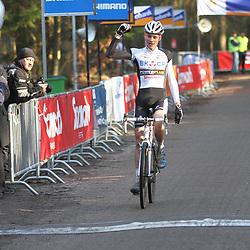 Nederlands Kampioenschap veldrijden Gasselte beloften Mathieu van der Poel pakt de titel bij de beloften