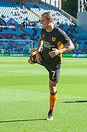 Kamil Grosicki of Hull City warms up prior to the Sky Bet Championship match at Villa Park, Birmingham<br /> Picture by Matt Wilkinson/Focus Images Ltd 07814 960751<br /> 05/08/2017