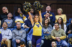 Nov 28, 2018; Morgantown, WV, USA; A West Virginia Mountaineers dancer performs during the second half against the Rider Broncs at WVU Coliseum. Mandatory Credit: Ben Queen-USA TODAY Sports