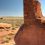 Wall at the Wukoki Pueblo, at Wupatki National Monument - AZ