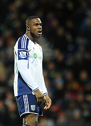 West Bromwich Albion's Victor Anichebe cuts a dejected figure - Photo mandatory by-line: Dougie Allward/JMP - Mobile: 07966 386802 - 02/12/2014 - SPORT - Football - West Bromwich - The Hawthorns - West Bromwich Albion v West Ham United - Barclays Premier League