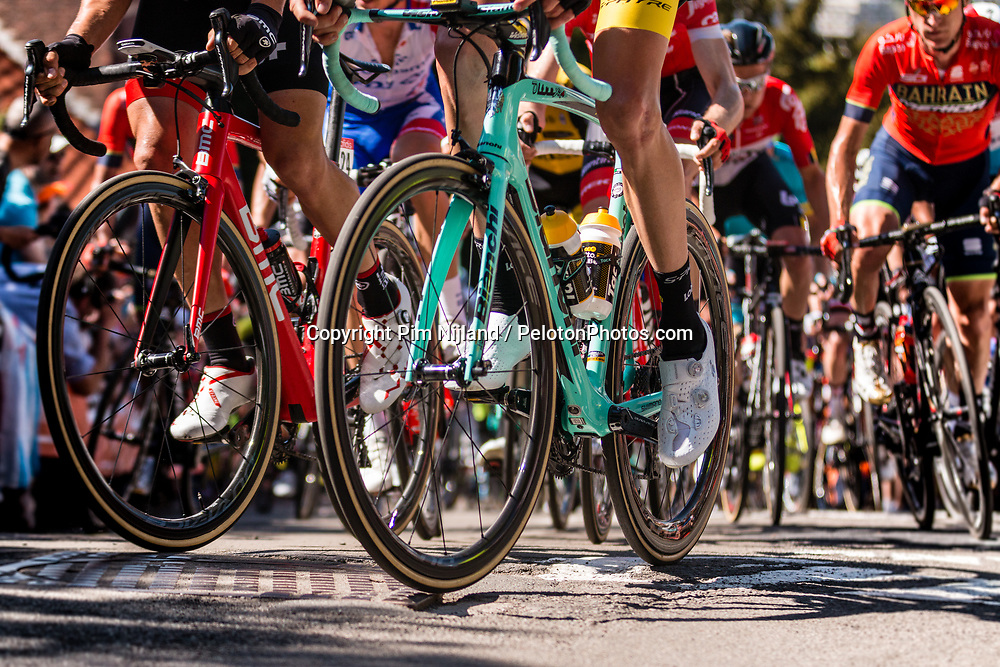 Robert GESINK of Team LottoNL-Jumbo on his Bianchi bike during the 1st of 3 climbs with 58 km to go at Mur de Huy of the 2018 La Flèche Wallonne race, Huy, Belgium, 18 April 2018, Photo by Pim Nijland / PelotonPhotos.com   All photos usage must carry mandatory copyright credit (Peloton Photos   Pim Nijland)