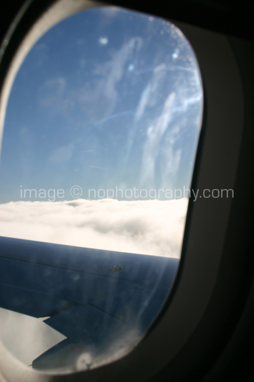 View from plane window<br />