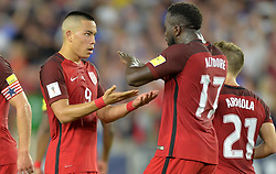 October 6, 2017 - Orlando, Florida, United States - Orlando, FL - Friday Oct. 06, 2017: Bobby Wood, Jozy Altidore during a 2018 FIFA World Cup Qualifier between the men's national teams of the United States (USA) and Panama (PAN) at Orlando City Stadium. (Credit Image: © John Todd/ISIPhotos via ZUMA Wire)