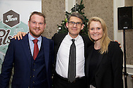 17/12/2015<br /> 17 December 2015<br /> Pictured at The Ireland - U.S. Council Holiday Season Member - Guest Reception at the InterContinental Hotel, Dublin were (L-R):<br /> David McCabe, Eaton Corporation;<br /> Didier Patry, Eaton Corporation <br /> and Elaine Power, Eaton Corporation.