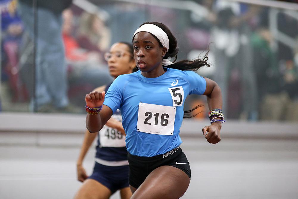 womens 500 meters, heat 1, Maggie Barrie, ascis, Clutch<br /> Boston University Scarlet and White<br /> Indoor Track & Field, Bruce LeHane
