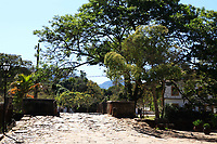 streetscene of the typical village of tiradente in minas gerais state in brazil