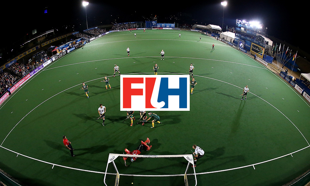 JOHANNESBURG, SOUTH AFRICA - JULY 13:  Mats Grambusch of Germany scores a goal during day 3 of the FIH Hockey World League Semi Finals Pool B match between South Africa and Germany at Wits University on July 13, 2017 in Johannesburg, South Africa.  (Photo by Jan Kruger/Getty Images for FIH)