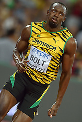 25-08-2015 CHN: IAAF World Championships Athletics day 4, Beijing<br /> Usain Bolt JAM in action at 200 m Men.<br /> Photo by Ronald Hoogendoorn / Sportida