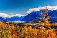 Matanuska Glacier and Chugach Mountains, summer, afternoon