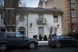 © Licensed to London News Pictures. 05/02/2017. London, UK. A property in west London that is being reported as belonging to former UKIP leader Nigel Farage. French politician Laure Ferrari has also been staying at the £4 million house. Photo credit: Peter Macdiarmid/LNP