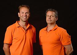 25-06-2013 VOLLEYBAL: NEDERLANDS VROUWEN VOLLEYBALTEAM: ARNHEM<br /> Selectie Oranje vrouwen seizoen 2013-2014 / Ralph Post en Head coach Gido Vermeulen<br /> ©2013-FotoHoogendoorn.nl