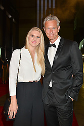REBECCA ADLINGTON and MARK FOSTER at the GQ Men of The Year Awards 2016 in association with Hugo Boss held at Tate Modern, London on 6th September 2016.