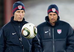 Head coach Bob Bradley during training session of USA National team before FIFA World Cup 2010 soccer match against Slovenia at  Ellis Park Stadium on June 17, 2010 in Johannesburg, South Africa.  (Photo by Vid Ponikvar / Sportida)