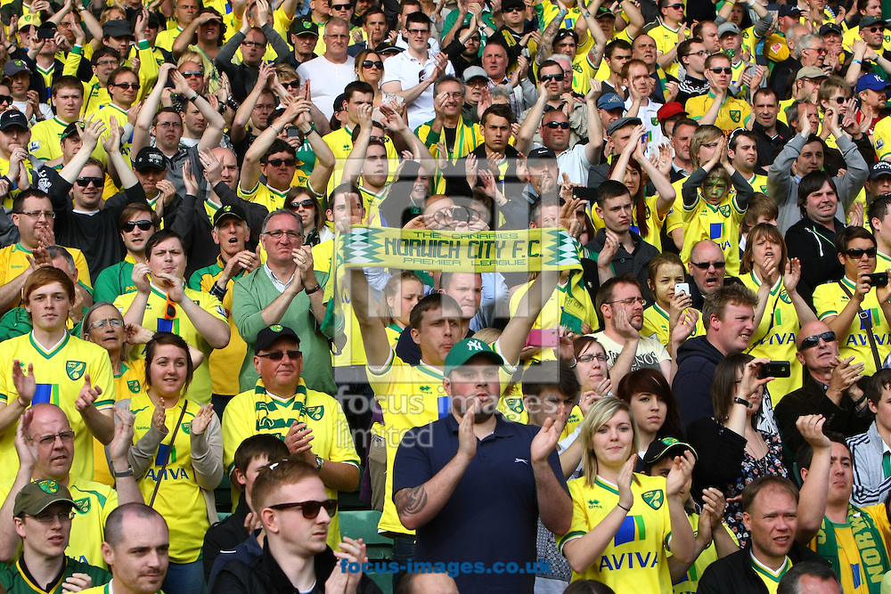 Picture by Paul Chesterton/Focus Images Ltd.  07904 640267.13/05/12.The home fans show their appreciation after the Barclays Premier League match at Carrow Road Stadium, Norwich.