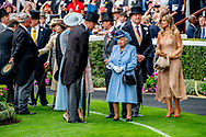 Royal Ascot, Day 1, UK - 18 Jun 2019 King Willem-Alexander and Queen Maxima with Queen Elizabeth II  ROBIN UTRECHT