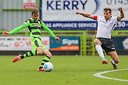 Forest Green Rovers Elliott Frear (11) has a shot during the Vanarama National League match between Forest Green Rovers and Bromley FC at the New Lawn, Forest Green, United Kingdom on 17 September 2016. Photo by Shane Healey.