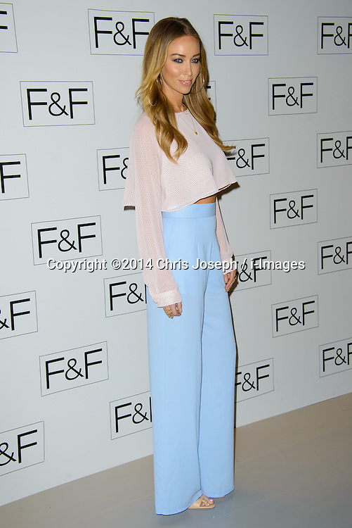 Lauren Pope attends F+F AW 14 Fashion Show. Somerset House, London, United Kingdom. Thursday, 3rd April 2014. Picture by Chris Joseph / i-Images