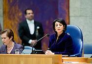 DEN HAAG - tweede kamer Kamervoorzitter Khadija Arib tijdens het vragenuur in de Tweede Kamer. copyright robin utrecht