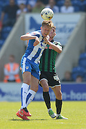 Frankie Kent of Colchester United does battle with Ian Henderson of Rochdale during the Sky Bet League 1 match between Colchester United and Rochdale at the Weston Homes Community Stadium, Colchester<br /> Picture by Richard Blaxall/Focus Images Ltd +44 7853 364624<br /> 08/05/2016