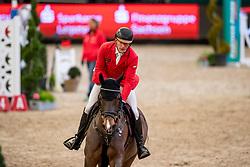 MEYER Tobias (GER), Coeur de Lion<br /> Leipzig - Partner Pferd 2019<br /> IDEE Kaffe Preis<br /> CSI5*<br /> 18. Januar 2019<br /> © www.sportfotos-lafrentz.de/Stefan Lafrentz