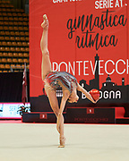 Karina Kuznetsova from Ginnastica Fabriano team during the Italian Rhythmic Gymnastics Championship in Bologna, 9 February 2019.