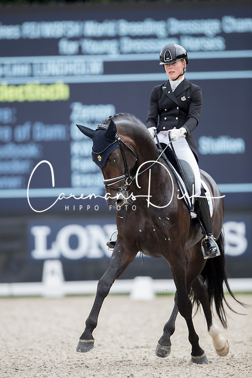 Ida-Linn Lundholm, SWE, Eclectisch<br /> Final 7 years of age<br /> World Championship Young Dressage Horses <br /> Ermelo 2016<br /> &copy; Hippo Foto - Dirk Caremans<br /> 31/07/16
