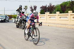 Dalia Muccioli (ITA) in the break at Tour of Chongming Island 2018 - Stage 2, a 121.3km road race from Changxing Fenghuang Park to Chongming Island on April 27, 2018. Photo by Sean Robinson/Velofocus.com