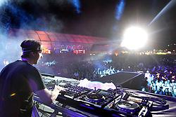 DJ Martin Solveig no palco principal do Planeta Atlântida 2013/RS, que acontece nos dias 15 e 16 de fevereiro na SABA, em Atlântida. FOTO: Marcos Nagelstein/Preview.com