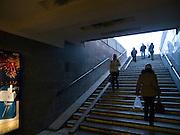 Nowosibirsk/Russische Foederation, RUS, 19.11.07: Eingang zur  Metrostation am Lenin Platz im Zentrum der sibirischen Hauptstadt Nowosibirsk.<br /> <br /> Novosibirsk/Russian Federation, RUS, 19.11.07: Entrance to the tube station Lenin Square in the center of the Sibirian capitol Novosibirsk.
