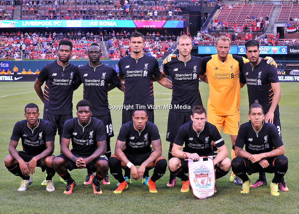 Starting 11 - Liverpool vs AS Roma   8-1-16