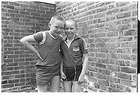 2 boys South-East London, London street photography in 1982. Tri-X