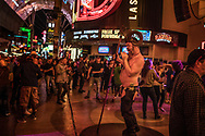 Street performer on the old Las Vegas Strip, Fremont Street.  Las Vegas.