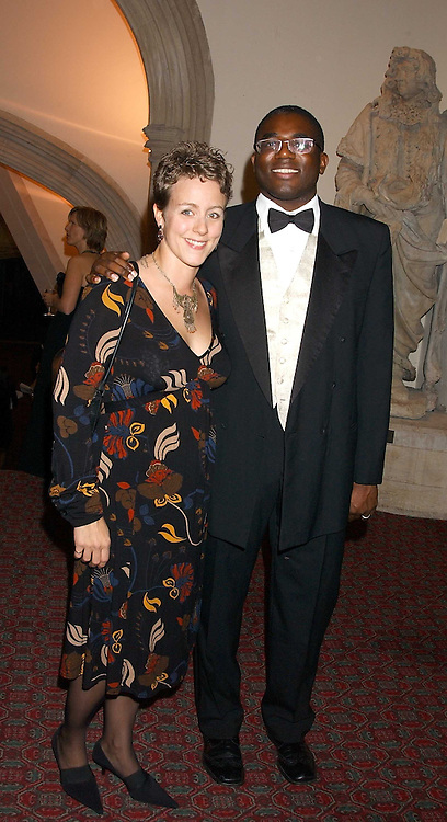 DAVID LAMMY MP and   at a dinner to announce the 2005 Man Booker Prize held at The Guilhall, City of London on 10th October 2005.<br /><br />NON EXCLUSIVE - WORLD RIGHTS