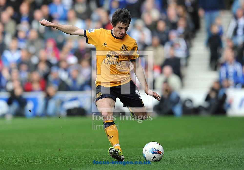 Picture by Andrew Timms/Focus Images Ltd. 07917 236526.03/03/12.Leighton Baines of Everton during the Barclay Premier League match against QPR at Loftus Road stadium, London.