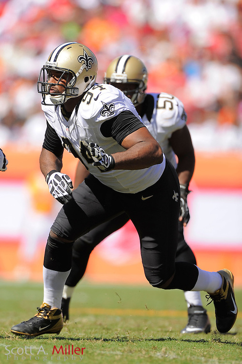 New Orleans Saints defensive end Cameron Jordan (94) during the Saints game against the Tampa Bay Buccaneers at Raymond James Stadium  on October 21, 2012 in Tampa, Florida. The Saints won 35-28....©2012 Scott A. Miller...