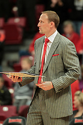 01 February 2014: Head Coach Dan Muller  during an NCAA Missouri Valley Conference (MVC) mens basketball game between the Drake Bulldogs and the Illinois State Redbirds  in Redbird Arena, Normal IL.