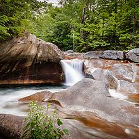 The Basin, Franconia Notch, New Hampshire. <br />