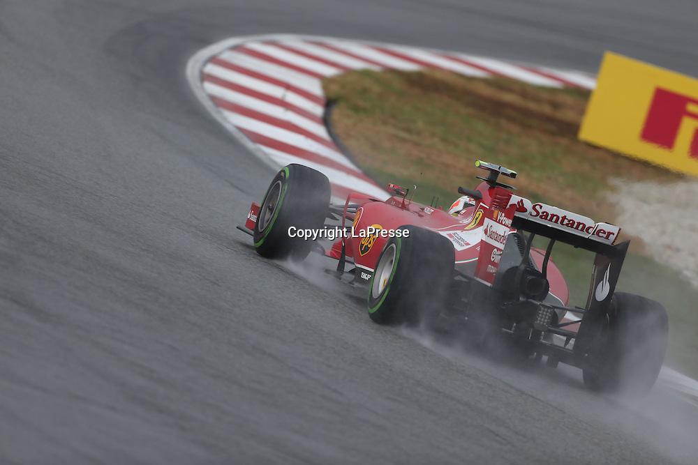 &copy; Photo4 / LaPresse<br /> 29/3/2014 Sepang, Malaysia<br /> Sport <br /> Grand Prix Formula One Malaysia 2014<br /> In the pic: Kimi Raikkonen (FIN) Scuderia Ferrari F14-T