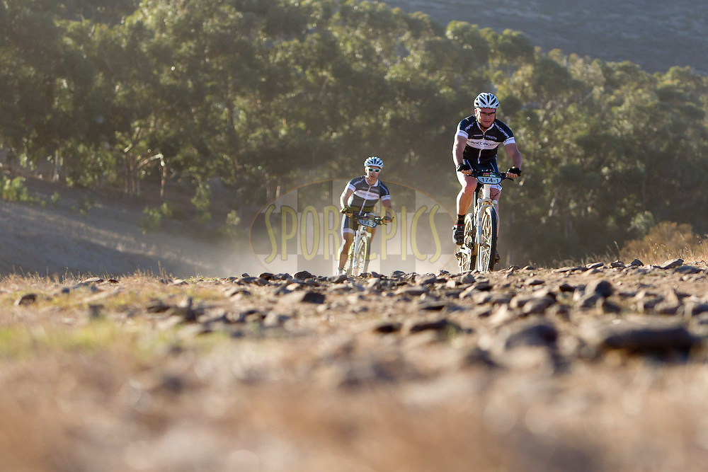 Andrew McLagan and Simon Bothner during the Prologue of the 2012 Absa Cape Epic Mountain Bike stage race held at Meerendal Wine Estate in Durbanville outside Cape Town, South Africa on the 25 March 2012..Photo by Nick Muzik/Cape Epic/SPORTZPICS
