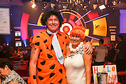 Fred and Wilma wait for the semi finals to begin.<br /> BDO World Darts Championships at  at Lakeside Country Club, Frimley Green, United Kingdom on 10 January 2015. Photo by Geoff Penn.