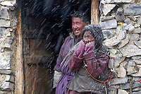 Karnak nomads on Ladakh's Changtang plateau await the passing of an early June snow.