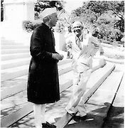 Arjuna Hulugalle Collection.<br /> H.A.J.Hulugalle with Nehru at the Commonwealth Foreign Ministers Conference in 1950. HAJH was the Government Information Officer at the time.